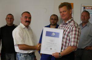 AMS Zertifikat der Berufsgenossenschaft VBG erneut erreicht